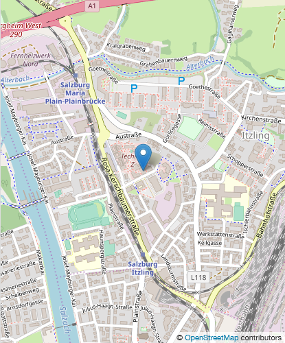 Umgebungskarte Salzburg Research